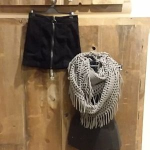 Forever 21 Skirt and Veond Eternity Scarf